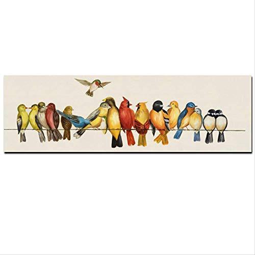 NOBRAND HD Print Horizontal Bird On The Canvas Pintura Al Óleo sobre...