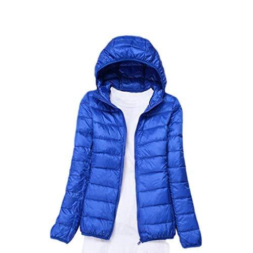 Finerun Damen Leichte Daunenjacke Puffer Jacket Packable Slim Hooded Warm Outerwear