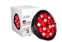 LouLeLou Red Light Therapy Lamp—54 W, Medical Grade Infrared Light Therapy Bulb, 18 LED's, 660nm Red and 850nm Near Infrared for Skin and Soothing Pain Relief—Lasts 50,000 Hours