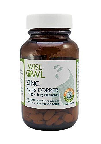Wise Owl Zinc + Copper 60 Tablets