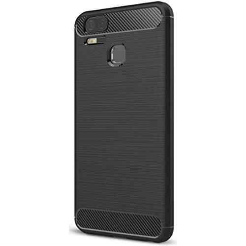 Asus zenfone 3S Zoom ze553kl Hülle, Ultra Light Slim Shockproof Silikon TPU [Anti Slip] [Kratzfest] Case für Asus zenfone 3S Zoom ze553kl Schutzhülle - Schwarz