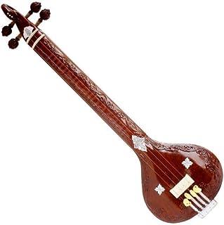 SANSKRITI MUSICALS Peacock Tanpuri, Wood Carving, 4 Strings (Flat Instrumental Tanpura/Tambura) - AJJ