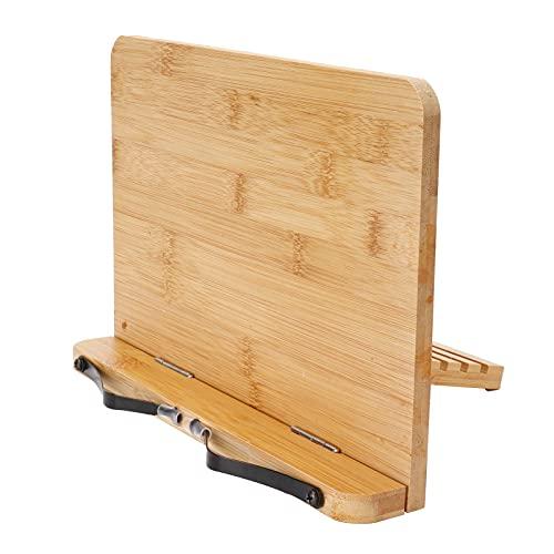 Evonecy Base de Soporte para Tableta, Soporte de Tableta de bambú Ajustable, portátil, 5 ángulos Diferentes, liviano para aulas, bibliotecas, Oficina para dormitorios, hogares