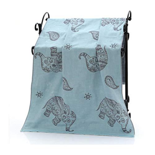 Leuke Cartoon Katoen Gaas Volwassen Badhanddoek Handdoek Badjas Camping Sport Strandlaken Kinderen Deken Thuis Textiel blauw 70x140cm