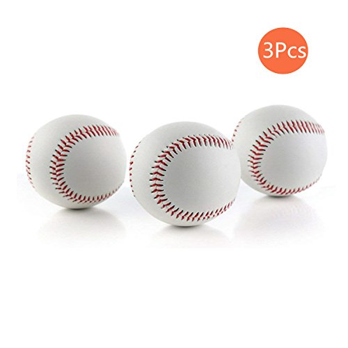 CZ-XING 22,9 cm handgefertigte Baseball-Bälle, PVC-Obermaterial, Gummi-Innenseite, weich und hart, für Training, 3 Stück