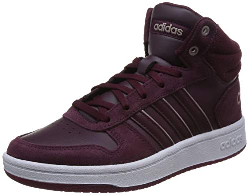 adidas Damen Hoops 2.0 Mid Basketballschuhe, Rot Maroon/Ftwwht, 38 2/3 EU