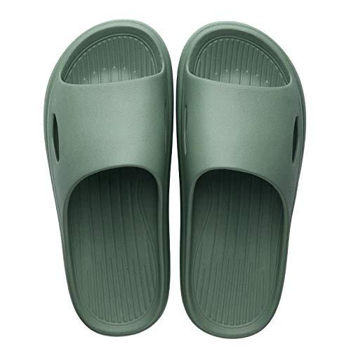 HUSHUI Chanclas de Playa Zapatos de Piscina para Niña,Sandalias y Zapatillas cómodas y de Moda, Zapatillas de Interior y Exterior de Suela Gruesa-Green_46-47,Sandalia Tipo Chancla Verano