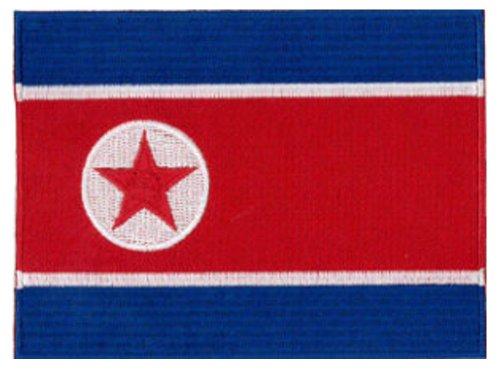 Klicnow Parche de la bandera de Corea del Norte, 12 x 9 cm.