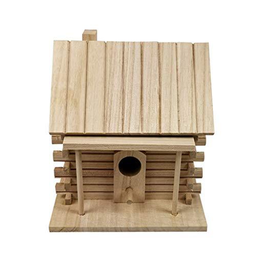 GREEN&RARE en Bois Maison D'oiseau Chaud Oiseau Boîte De Reproduction Table pour Le Jardin en Plein Air Nid Hut Pet Jouet Unique Nouveauté Oiseau Nidification Boîte Décorations De Jardin