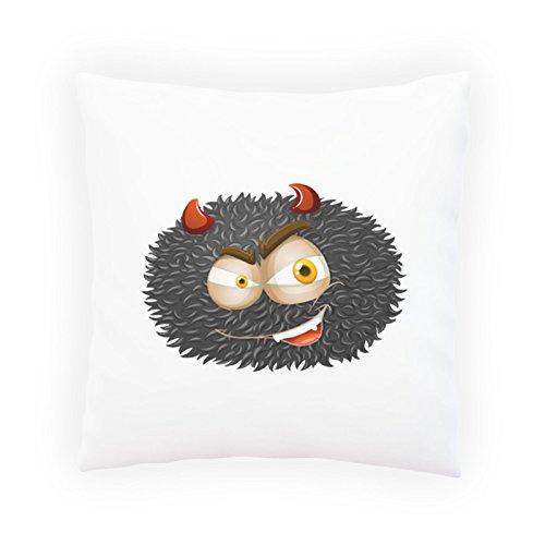INNOGLEN Teufel Smile lustig Dekoratives Kissen, Kissenbezug mit Einlage/Füllung oder ohne, 45x45cm u507p