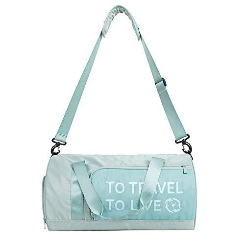 BlueCosto (Verde Bolsa de Deporte Gimnasio Impermeable para Mujer Niña Señoras Duffels