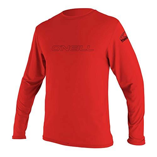 O'Neill Wetsuits Men's Basic Skins 50+ Long Sleeve Sun Shirt, Red, 2XL