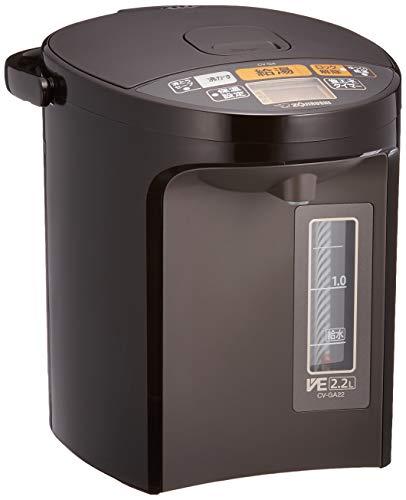 象印 電気ポット 2.2L 優湯生 省エネ ハイグレード 5段階温度設定 ブラウン CV-GA22-TA