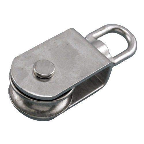 MarineNow 316 Stainless Steel Square Pulley Block 5/8' Rope x 4' 100mm Marine