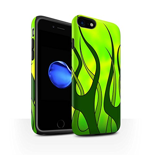 Stuff4®Phone Case/Cover/Skin/ip-3dtbm/Flame Paint Job Collection Verde y Lima Apple iPhone 8