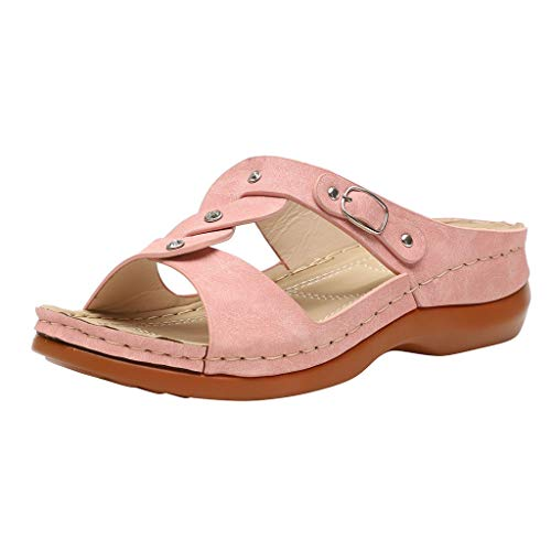 serliy😛Sandalen Damen Frauen Flip Flops Kreuzband Geflochtene Sandalen Roman Schuhe Sommer Woven Strap Mode Strand Hausschuhe Flacher Anti Rutsch