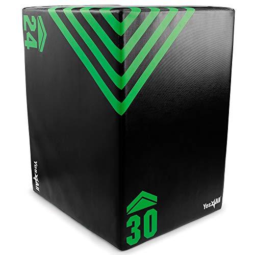 Yes4All Foam Plyo Box/Plyometric Box Platform for Crossfit, Jump Training & Conditioning – Plyo Jump Box/Soft Plyo Box 3 in 1 (20/24/30)