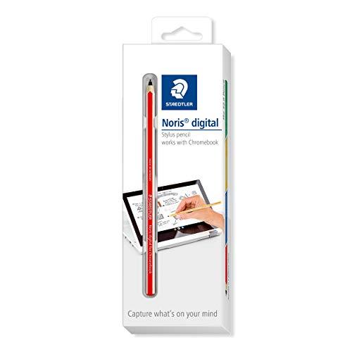 STAEDTLER roter Noris Digital for Chromebook EMR Stylus, Touchscreen-Eingabestift mit feiner 0,7 mm Spitze, 18022G-2