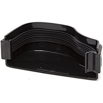 Right BLACK 130 x 70mm Polypipe OGEE ROG18 Extra Capacity Gutter Internal Stopend