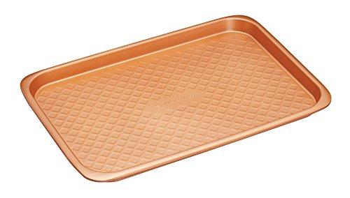 Kitchen Craft MCCER07 Masterclaß Großes Stapelbares Antihaft Backblech, Keramik, braun, 27 x 40 x 2,5 cm