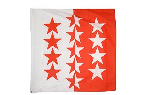 Flaggenfritze Fahne/Flagge Schweiz Kanton Wallis + gratis Sticker