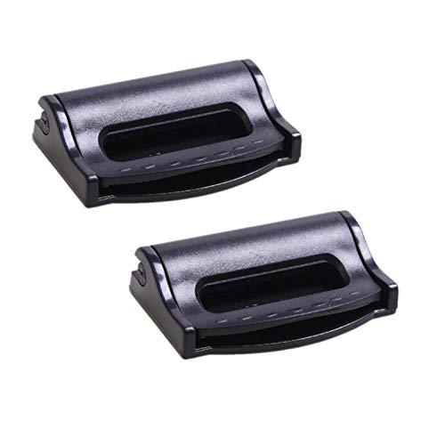 ZLMC Car Seatbelt Adjuster Clip Stopper Seat Belt Stopper- Universal Plastic Lock Strap Clamp ,Shoulder Neck Auto Vehicle Clip for Kids and Adults-Black