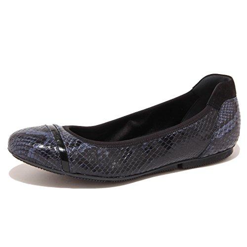 Hogan 5869O Ballerine Wrap Blu/Nero Scarpa Donna Shoe Woman [36]
