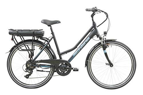 F.lli Schiano E- Light 2.0, Bicicletta elettrica Women's, Nera, 26''
