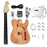 DIY TL Style Electric Guitar Kits, okoume wood Body Build Your Own Guitar
