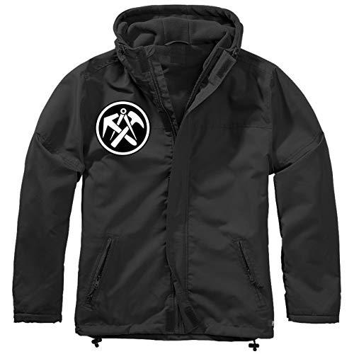 Spaß kostet Männer und Herren Gefütterter Windbreaker Jacke mit Aufnäher DACHDECKER Größe S bis 7XL