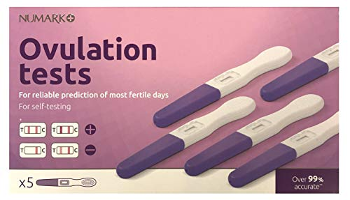 Numark Ovulation Test Kit - for Reliable Prediction of Most Fertile Days - for Unmistakably Clear Results - 5 Individual Tests
