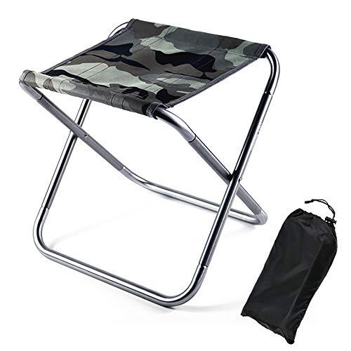 Magiin Taburete Plegable Portátil Silla Taburete de Camping Plegable Ultraligero Aleación de...