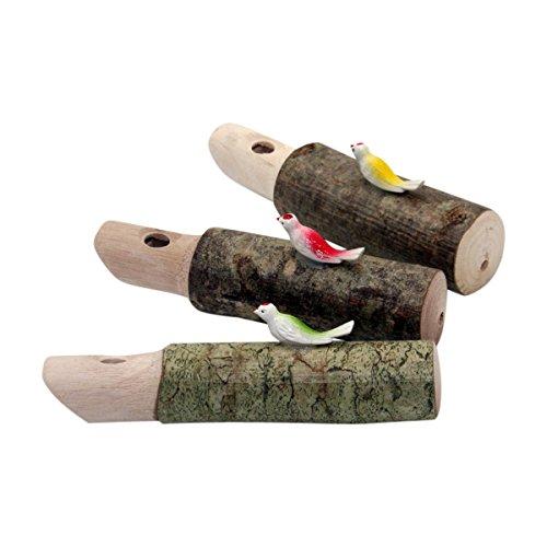 GICO Kuckuckspfeife aus Holz, Set 3 -TLG, Mitgebsel Kindergeburtstag - 7937