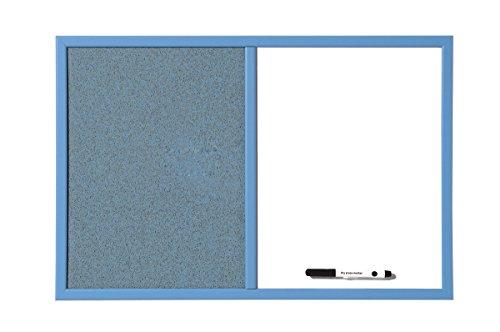 Bi-Office MX03439471 - Tablón combinado organizador para escuela, 60 x 40 cm, color azul