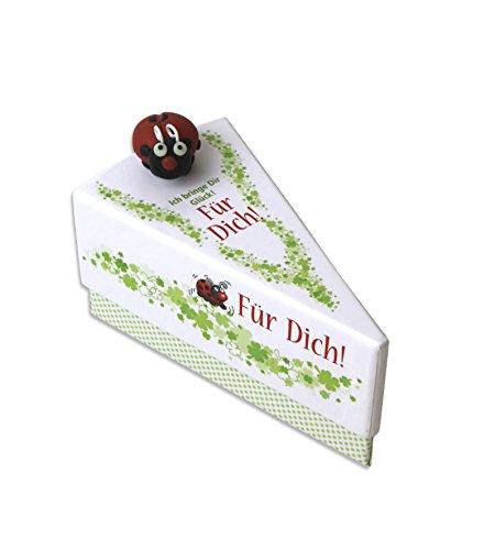 DeCoArt...… 1 Geschenkschachtel Geldgeschenk Kleine Geschenke Für Dich Marienkäfer Tortenstück ca. 9x11,5x6,5 cm