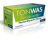 TONWAS RENDIMIENTO, 10 Viales Bebibles de 10 ml, Disminución del Cansancio, Rendimiento Intelectual, Ginseng, Efecto Tónico, Complemento Alimenticio, Salud y Cuidado Personal