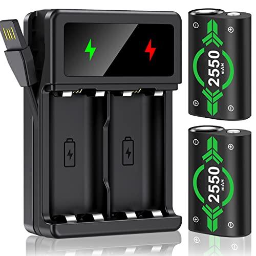 Batería recargable para controlador de Xbox One, batería para Xbox Series X&S, 2550 mAh, alta capacidad, compatible con Xbox One/Xbox Series X&S/Xbox One S/Xbox One X/Xbox One Elite Controller