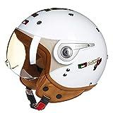 Dgtyui Caschi per motocicletta vecchio stile, caschi scafo, caschi aperti e ciclisti possono anche indossare sistemi di ventilazione per mantenere il flusso d'aria interno - 6 X XL
