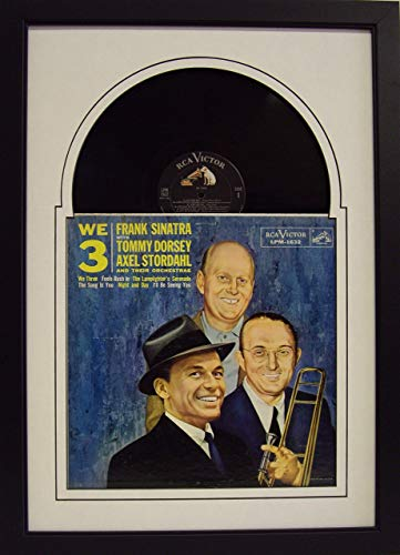 Frame My Collection Record Album Display Frame Jukebox Style Matting Solid Wood Frame and Real Glass (Black Frame)