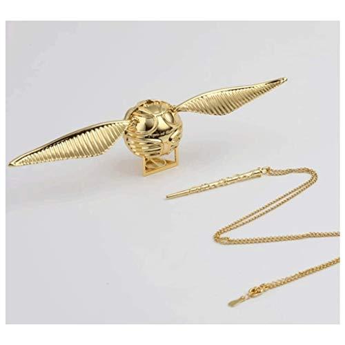 Yyqx Caja de anillo de oro Snitch, se puede abrir con colgante, accesorios para niños y niñas, regalo de Navidad, cumpleaños, caja de joyería creativa (color: oro)
