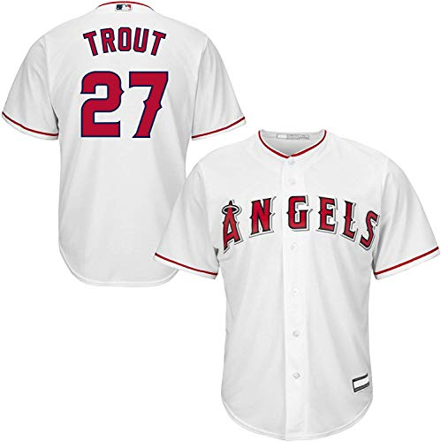 Outerstuff Mike Trout Los Angeles Angels MLB Boys Youth 8-20 Player Jersey (White Home, Youth Medium 10-12)