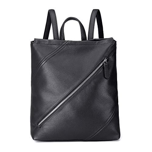Women Backpack JOSEKO Anti-Theft Woman bookpack with Large Capacity rushpack Waterproof PU Leather School Bags Black