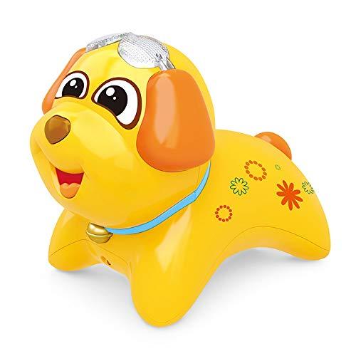 Lihgfw Singen Mikrofon Kinderspielzeug Hund Wireless Microphone Baby und Mädchen Verstärker Spielzeug Wiederaufladbar (Color : Yellow)