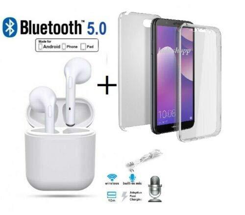 Hidashopp - Auriculares Bluetooth compatibles con Samsung J7 2016 J7 2017, Bluetooth inalámbrico + Carcasa Completa