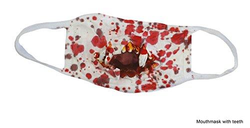 Karneval-Klamotten Mundschutz mit Blut blutig-e Mundschutz Zombie Horror für Krankenschwester Doktor Halloween