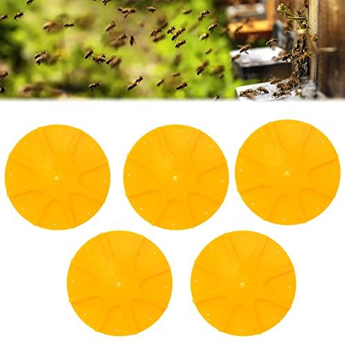 Herramientas de escape de abejas redondas, equipo de escape de abejas de 8 vías reutilizable de 5 piezas para apicultura