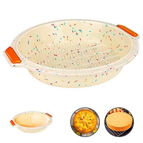 nobrand bakeware Silicone della vaschetta di Cottura 9' Round Cake Pan Flessibile Antiaderente Torta Stampo Alto e Il più Basso Temperatura Resistente ovenware