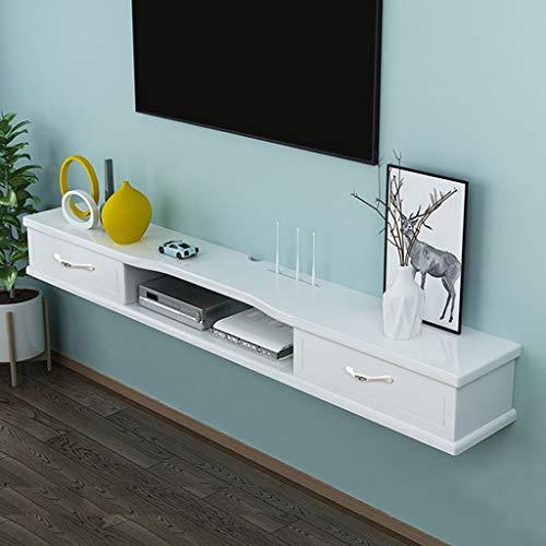 Wall Mounted TV meubel met 2 Flip Lade Floating TV Shelf Modern Minimalist Opknoping Locker muur bevestigde Media Console for DVD Cable Box (Size : 120cm(47.3in))