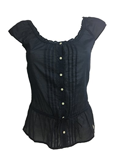 Abercrombie & Fitch - Camisa de encaje para mujer azul navy XS