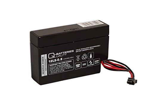 Q-Batteries 12LS-0.8 12V 0,8Ah AGM Blei-Vlies Akku Heim und Haus